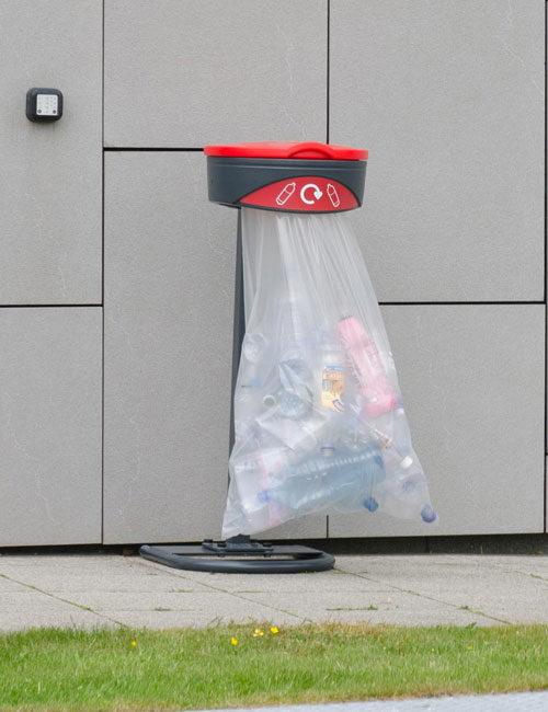Напольная прозрачная урна для мусора на улице