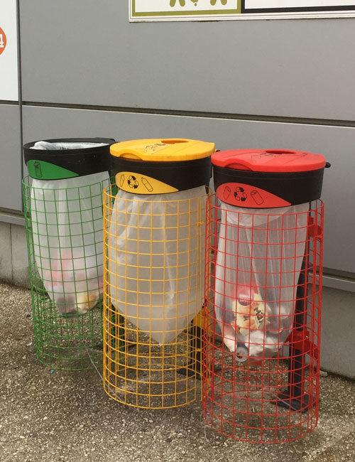 Урны для раздельного сбора мусора уличные прозрачные ORBIS