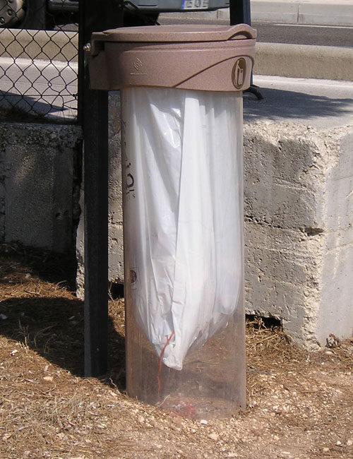 Прозрачная урна для мусора уличная ORBIS