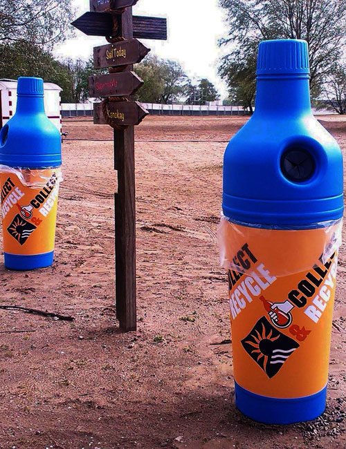урны для сбора бутылок в форме бутылки