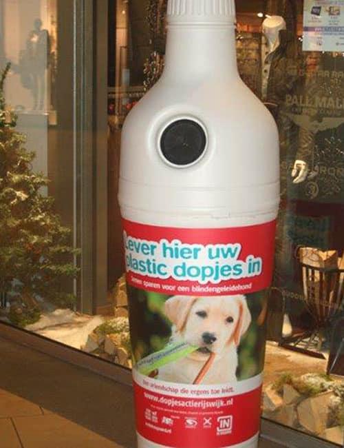 мусорная урна - бутылка