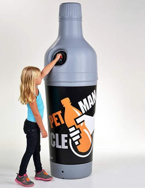 Урна в виде бутылки