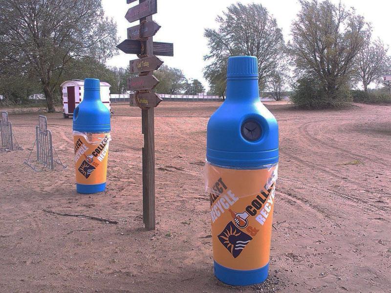 урна бутылка в парке