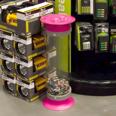 Прозрачный контейнер для батареек 10 литров