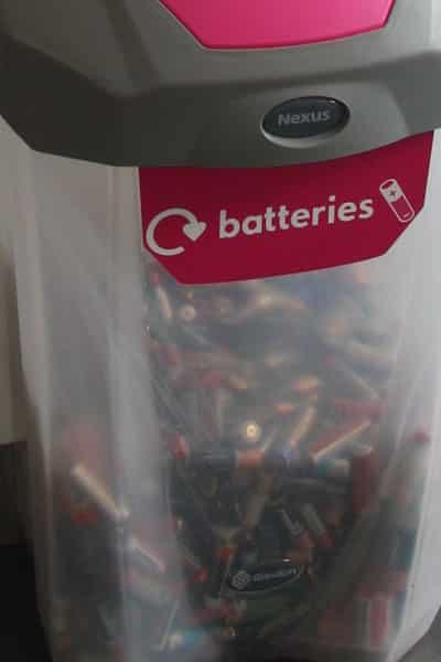 Прозрачная урна для батареек NEXUS 30