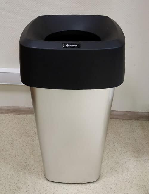 Урна для мусора в помещениях серебристая VISTA