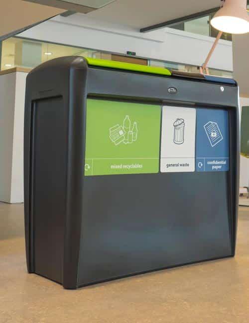 Пластиковая урна для раздельного сбора 3 отходов EVO