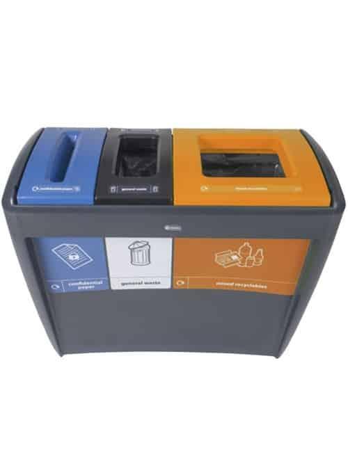 Тройная урна для мусора EVOLUTION