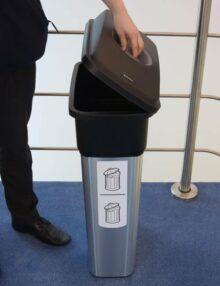 Закрытая мусорная урна для помещений MIRAGE