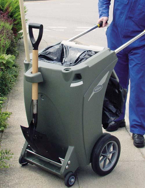 Тележка для уборки мусора дворником Skipper
