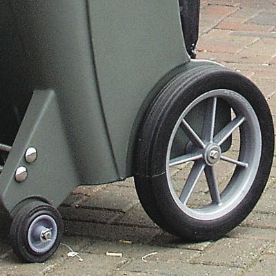 Двойные колеса мусорной тележки Skipper
