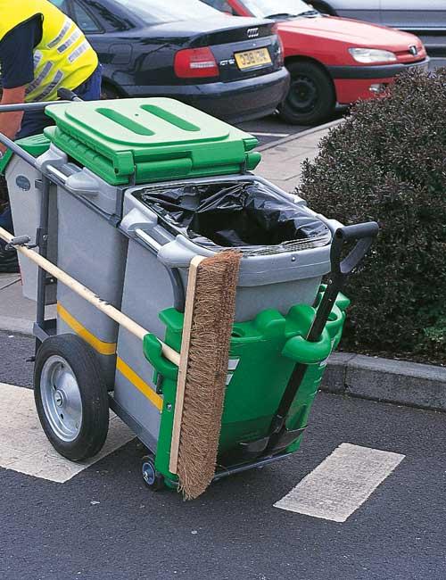 Уличная мусорная тележка дворника GLASDON