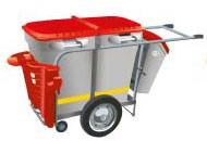 Красная мусорная тележка GLASDON