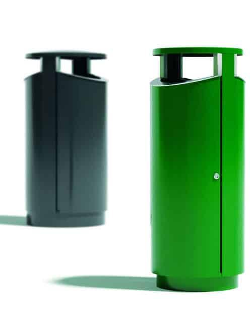 металлическая мусорная урна с двумя отверстиями NOVUS 80-2
