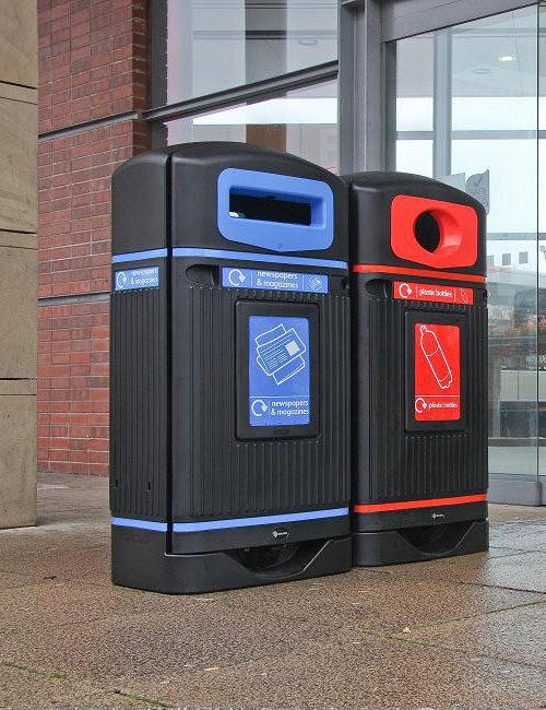 Уличные урны для раздельного сбора мусора GLASDON