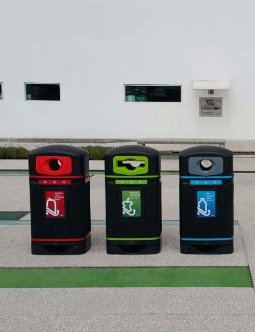 Уличные мусорные урны для раздельного сбора Jubilee R