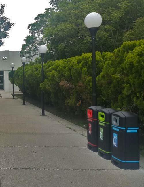 Урны для раздельного сбора мусора на улице GLASDON