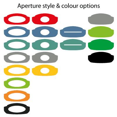 варианты цвета и формы верхней крышки