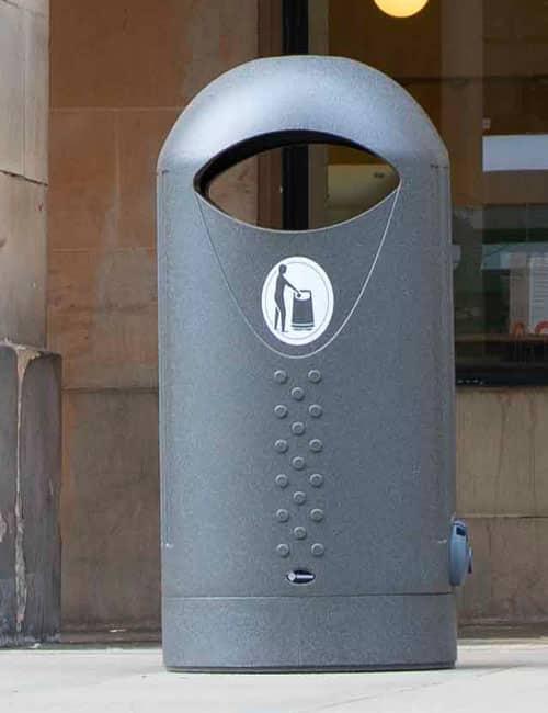 Овальная мусорная урна ELIPSA GLASDON