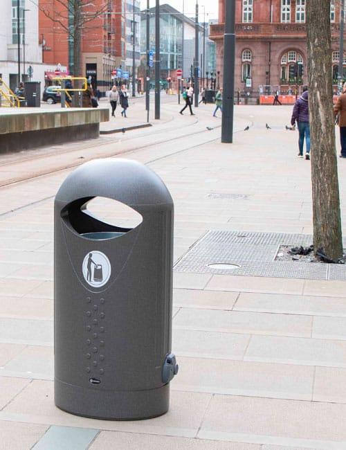 Овальная мусорная урна для улиц ELIPSA